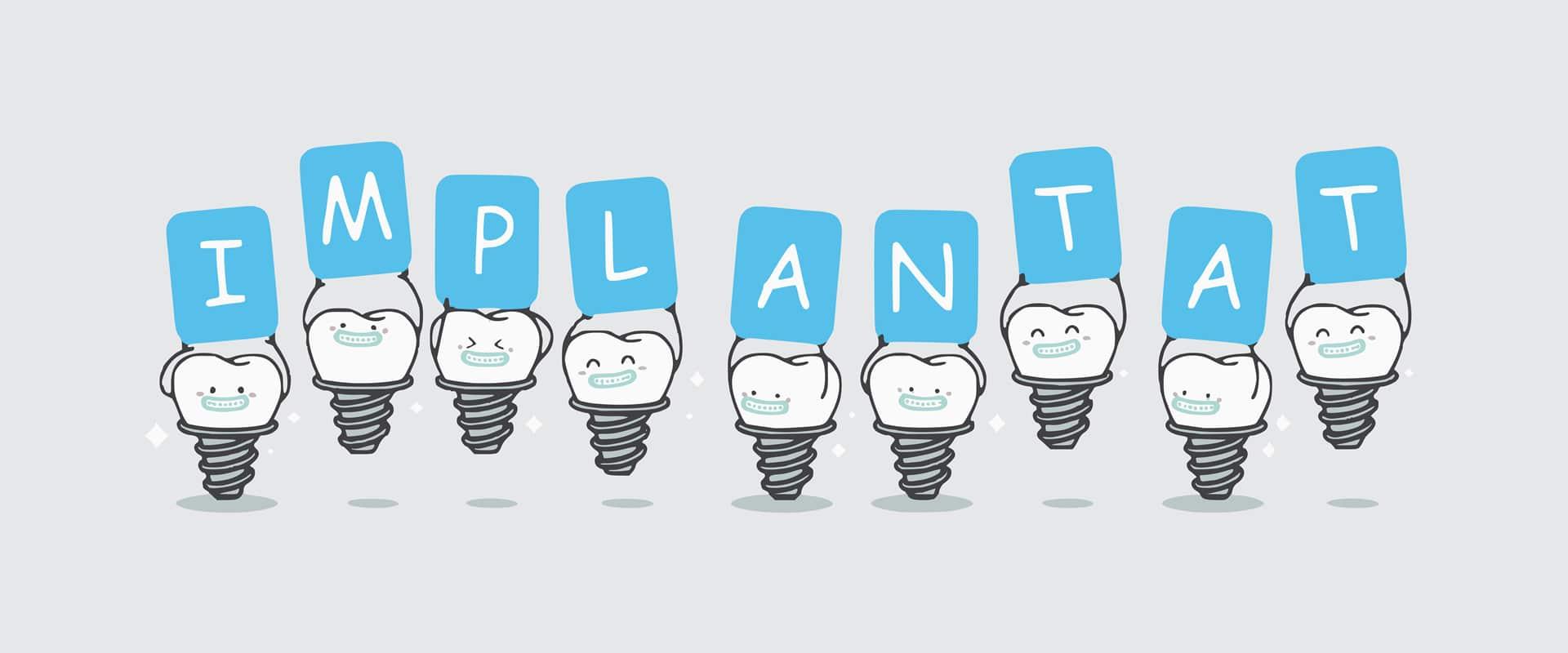 Implantat ali zobni vsadek