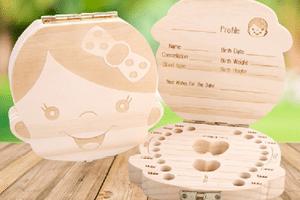 Škatlica za shranjevanje mlečnih zob