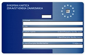 Evropska kartica zdravstvenega zavarovanja za tujino