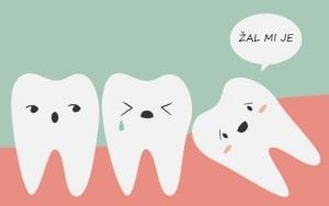 Gneča zaradi modrostnega zoba