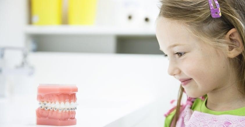 Zobni aparat za otroke z napotnico