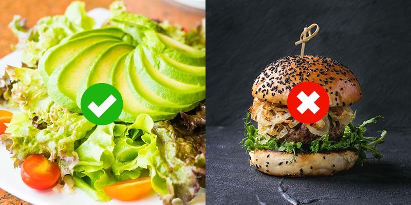 Zdrava prehrana za manj aft